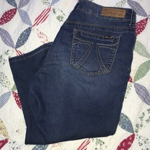 14 cropped jeans